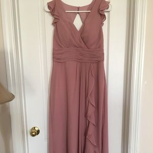 Azazie Dusty Rose bridesmaid dress